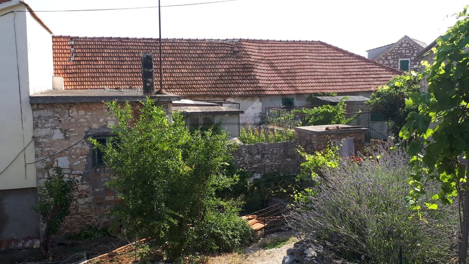 Old stone house in the historic core of the town of Supetar